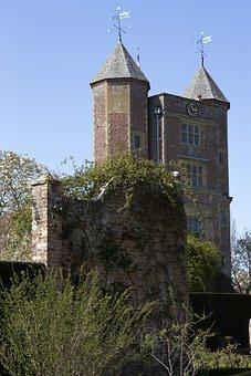 Tudor Gatehouse, Towers, Historic, Architecture