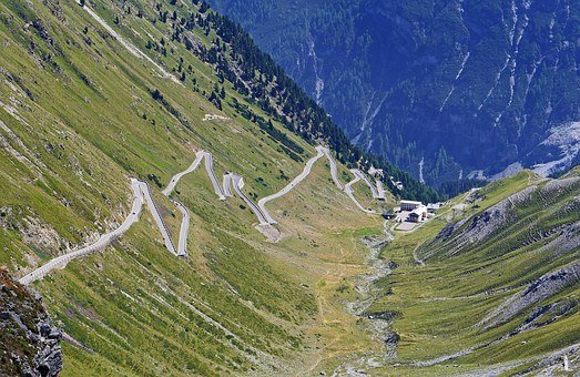 Stelvio Yoke, North Ramp, Pass Road, South Tyrol, Italy