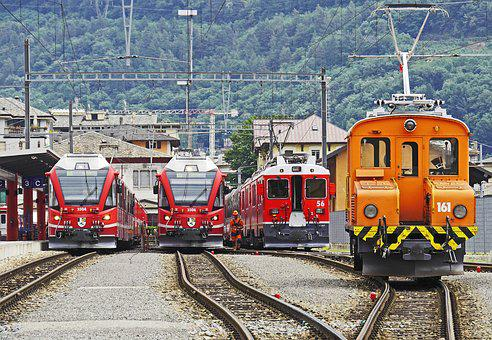 Tirano, Swiss Mountain, Italy, Bernina Railway