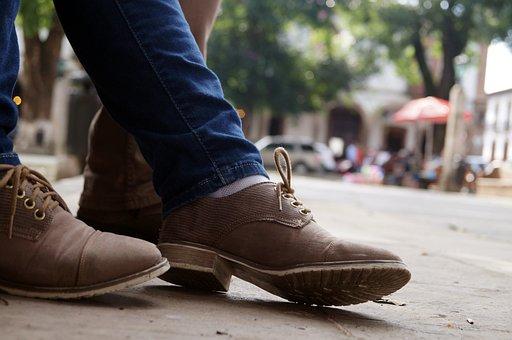 Shoes, Jeans, Street, Place, Floor, Clothes, City