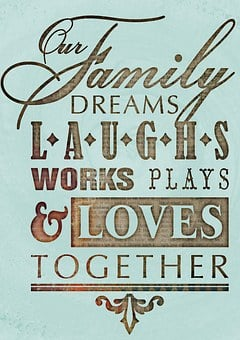 Motivational, Calligraphy, Grunge, Family, Laugh, Words