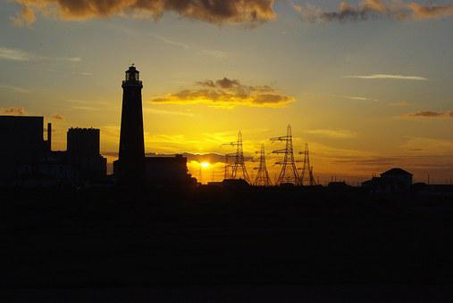 Sunset, Lighthouse, Dungeness, Kent, Power Station