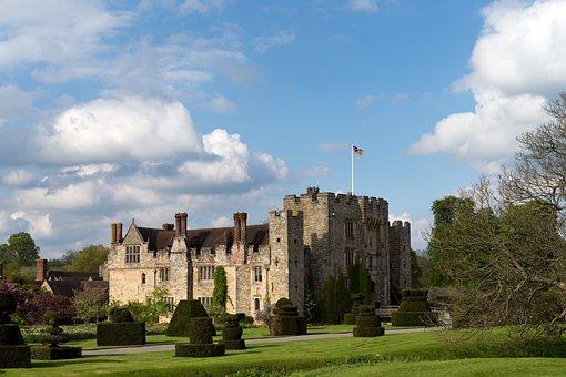 Castle, Hever Castle, Kent, Architecture, Moat, Tudor