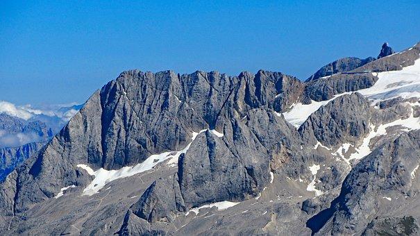 Marmolada, Glacier, Mountain Landscape, Alp Glacier