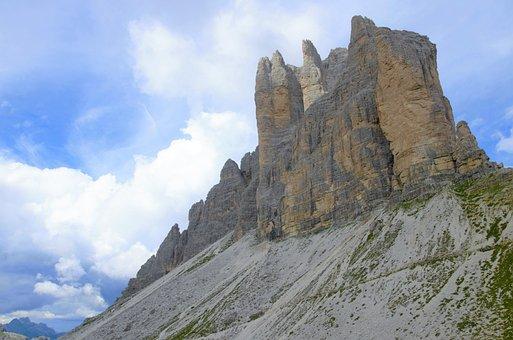 Tre Cime Di Lavaredo, The Alps, Italy, Mountains