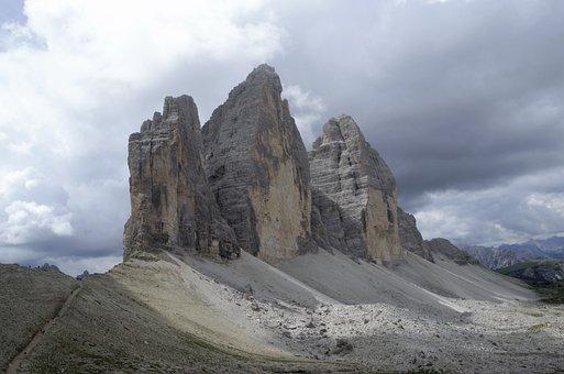Tre Cime Di Lavaredo, The Alps, Italy, Mountains, View