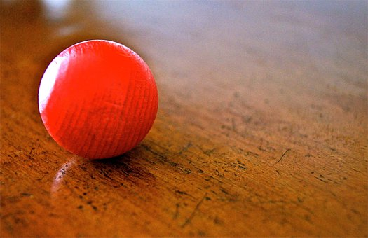 Ball, Roll, Red, Old, Flat, Play, Toys, Antique, Alone