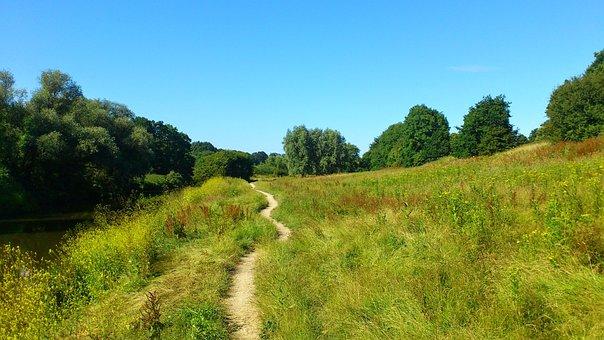Trail, Kent, River, England, Path, Countryside, Teeston