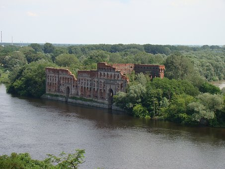 Modlin, River, Fortress, Tourism, Old Wall
