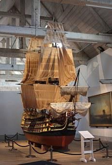 Ship, Sails, Museum, Masts, Jib, Victory, Model