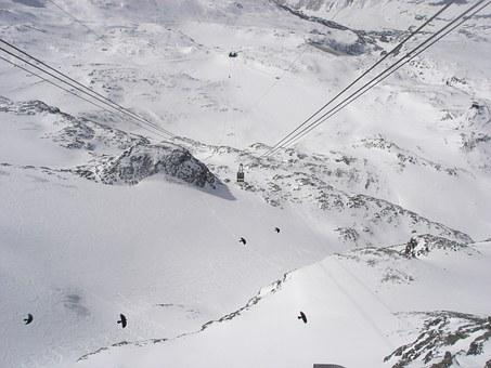 Cervinia, Mountain, Cable Car, Sci
