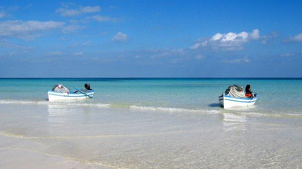 Boats, Rowing Boats, Ships, Sea, Ocean, Next, Sky, Blue