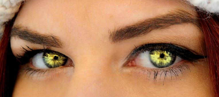 Green Eyes, Iris, Gene, Seductive, Makeup, Beauty