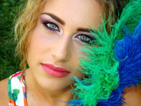 Girl, Eye, Blue, Gene, Seductive, Makeup