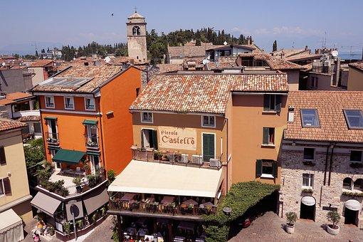 Outlook, Roofs, Sirmione, Italy, Garda, Lago Di Garda