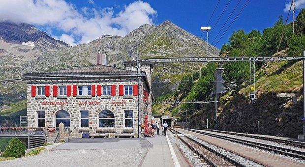 Alp Grüm, Bernina Railway, Station, Railway Station