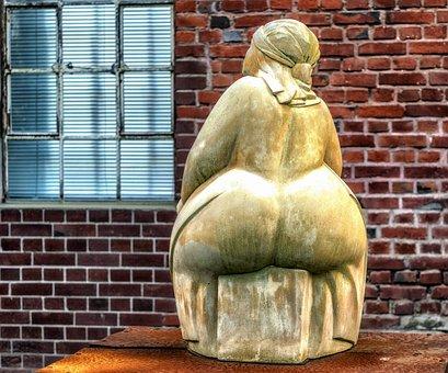 Woman, Sculpture, Sit, Po, Butt, Ass, Thick, Statue