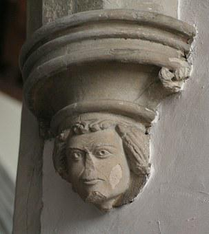 Grotesque, Carving, Masonry, Mason, Stone, Boss