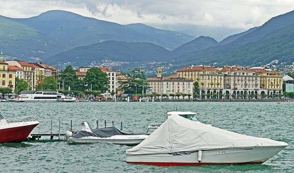 Lugano, Ticino, Switzerland, Swell, Windy