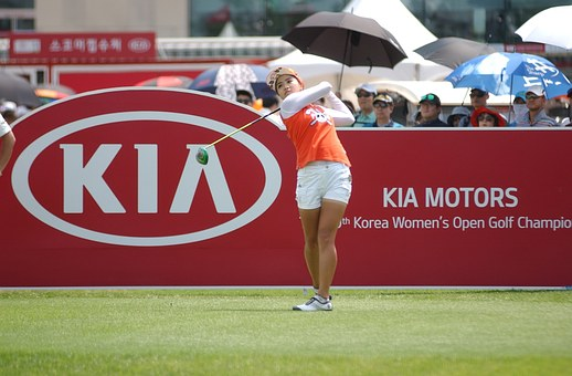 Golf, South Korea Women's Open, Positive Gene, Tee