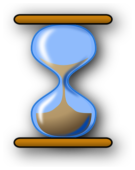 Hourglass, Sand, Blue, Glass, Time, Hour, Clock, Watch