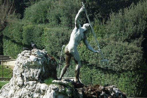 Neptune, Ass, Wash, Boboli Gardens, Joke