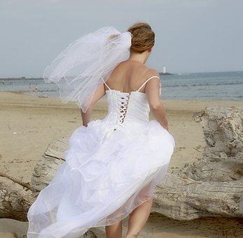 Dress, Wedding, Wedding Photo, White Dress