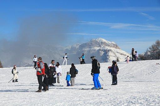 Snow, Mountain, Winter, Cold, White, Dolomites, Fassa