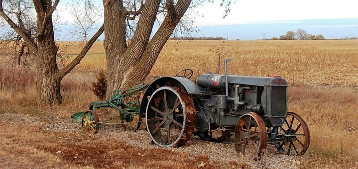 Tractor, Antique, South Dakota, Farm, Historic, Old