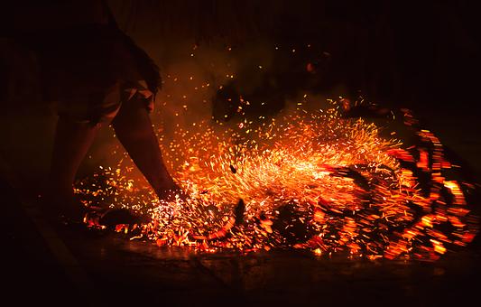 Feuertanz, Bali, Radio, Fire, Coconut, Embers, Culture