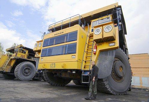 Dumper, Gigantic Proportions, Car, Coal, Belaz