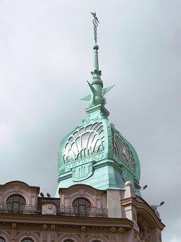 Building, Art Nouveau, Art Deco, Facade, Dome