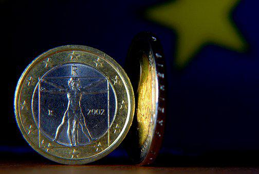 Euro, Euro Coin, Money, Currency, Coins, Finance, Cash