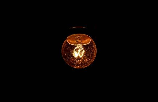 Light Bulb, Incandescent Bulb, Filament, Tabitha