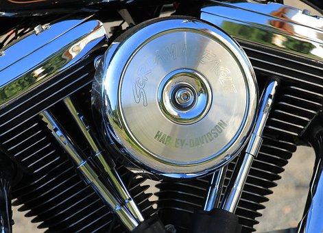 Motor, Motorcycle, Harley Davidson, Shiny, Freedom