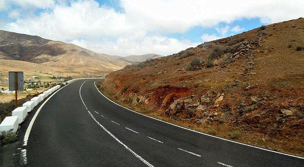 Road, Fuerteventura, Canary Islands, Asphalt, Summer