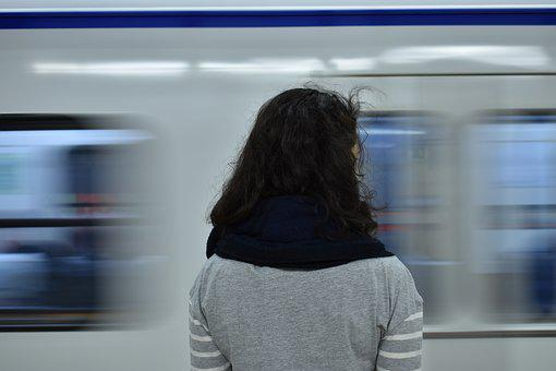 Subway, Movement, Girl, Train, Transport, Motion, Speed