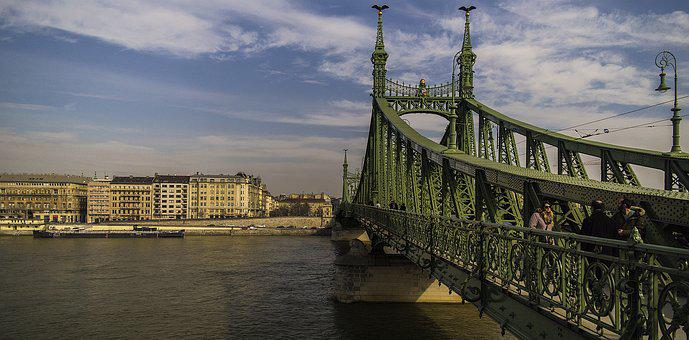 The Liberty Bridge, Budapest, Hungary, Photographer