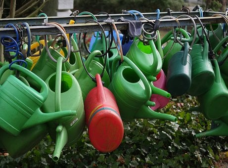 Watering Cans, Colorful, Irrigation, Plastic, Casting