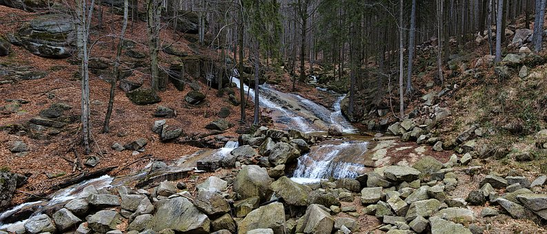 Stream, Jizera Mountains, Water