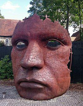 Marlowe Mask, Canterbury Mask, Sculptor, Mark Kirby