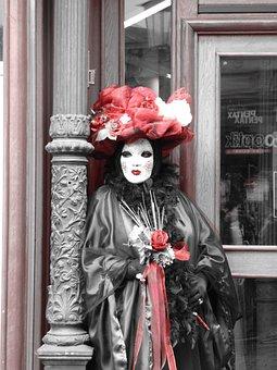 Masked Ball, Masquerade, Carnival, Panel, Costume