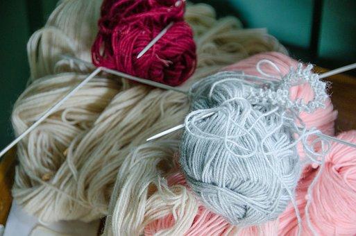 Wool, Knit, Handicraft, Manual, Hobby, Work, Old