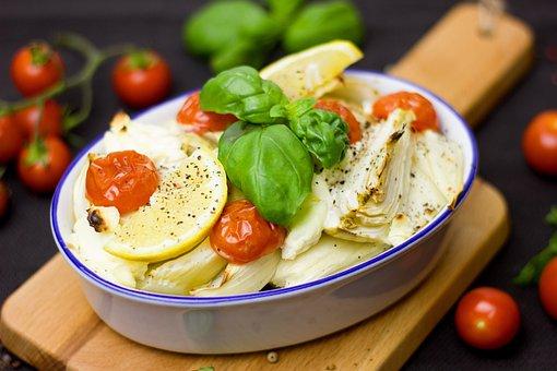 Fennel, Vegetables, Oven Vegetable, Oven Dish, Basil