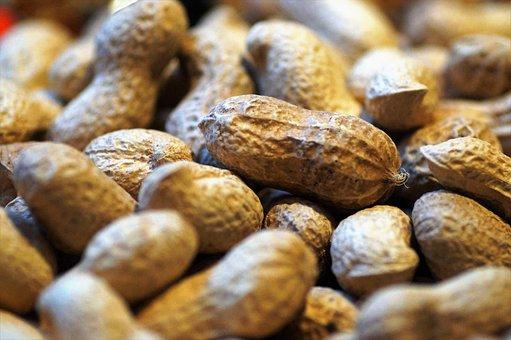 Peanuts, Groundnuts, Nut, Paper, Peel, Detail