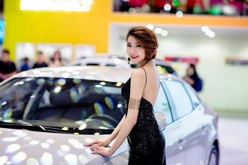 Fashion, Model, Woman, People, Portrait, Car