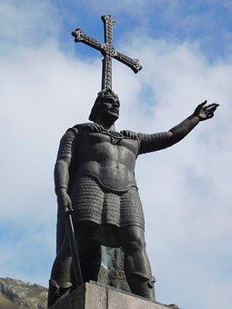 Pelayo, King, Reconquista, Asturias, History, Spain
