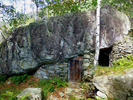 Rock Cellar, Grotto, Ticino, Rock, Maggia Valley, Hike