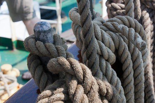 Ship, Dew, Cordage, Sailing Vessel, Canvas, Rope, Masts