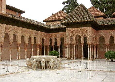 Alhambra, Granada, Andalusia, Spain, Source